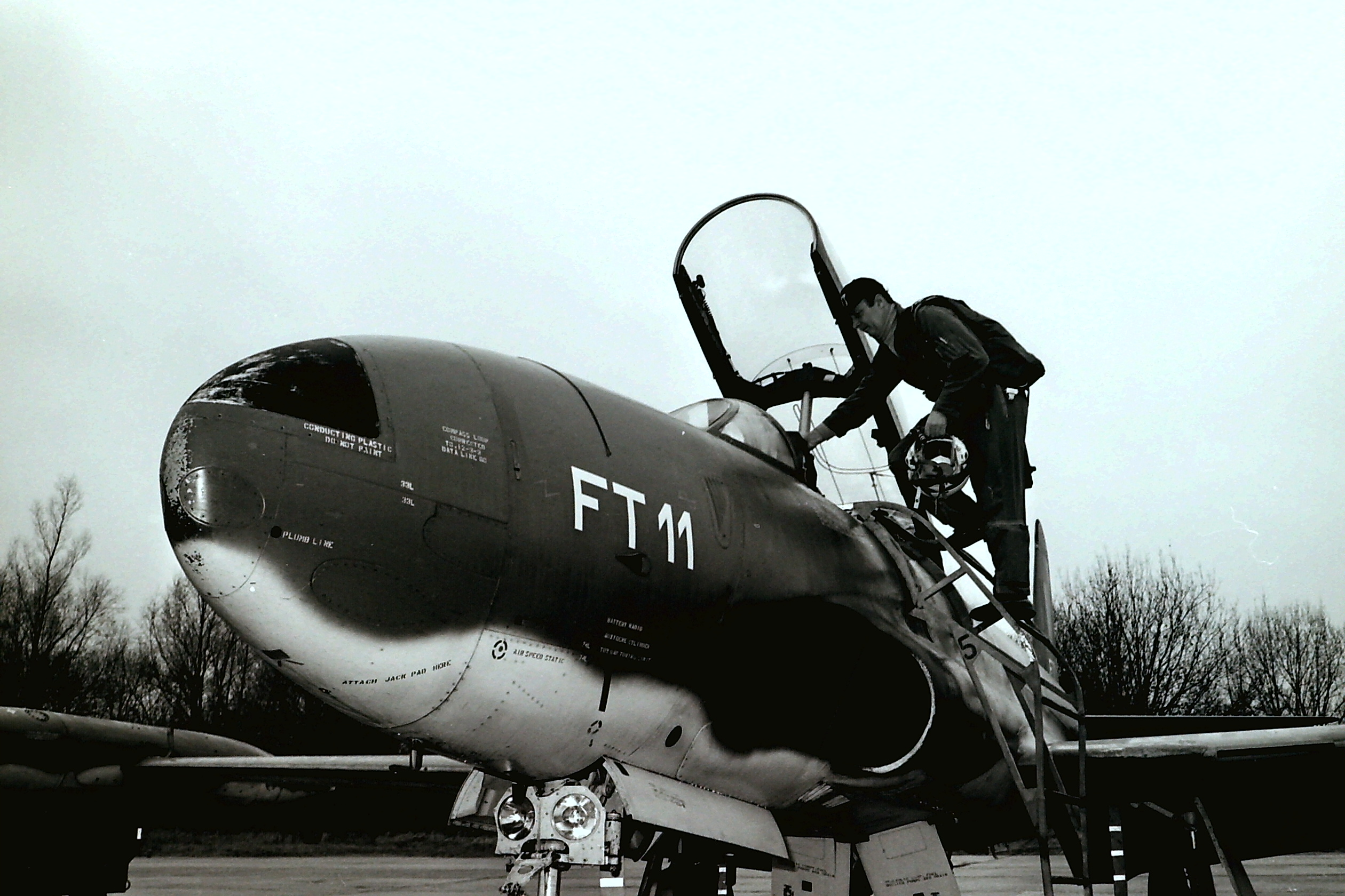 T 33  FT11 Cdt Verbruggen Entering Cockpit