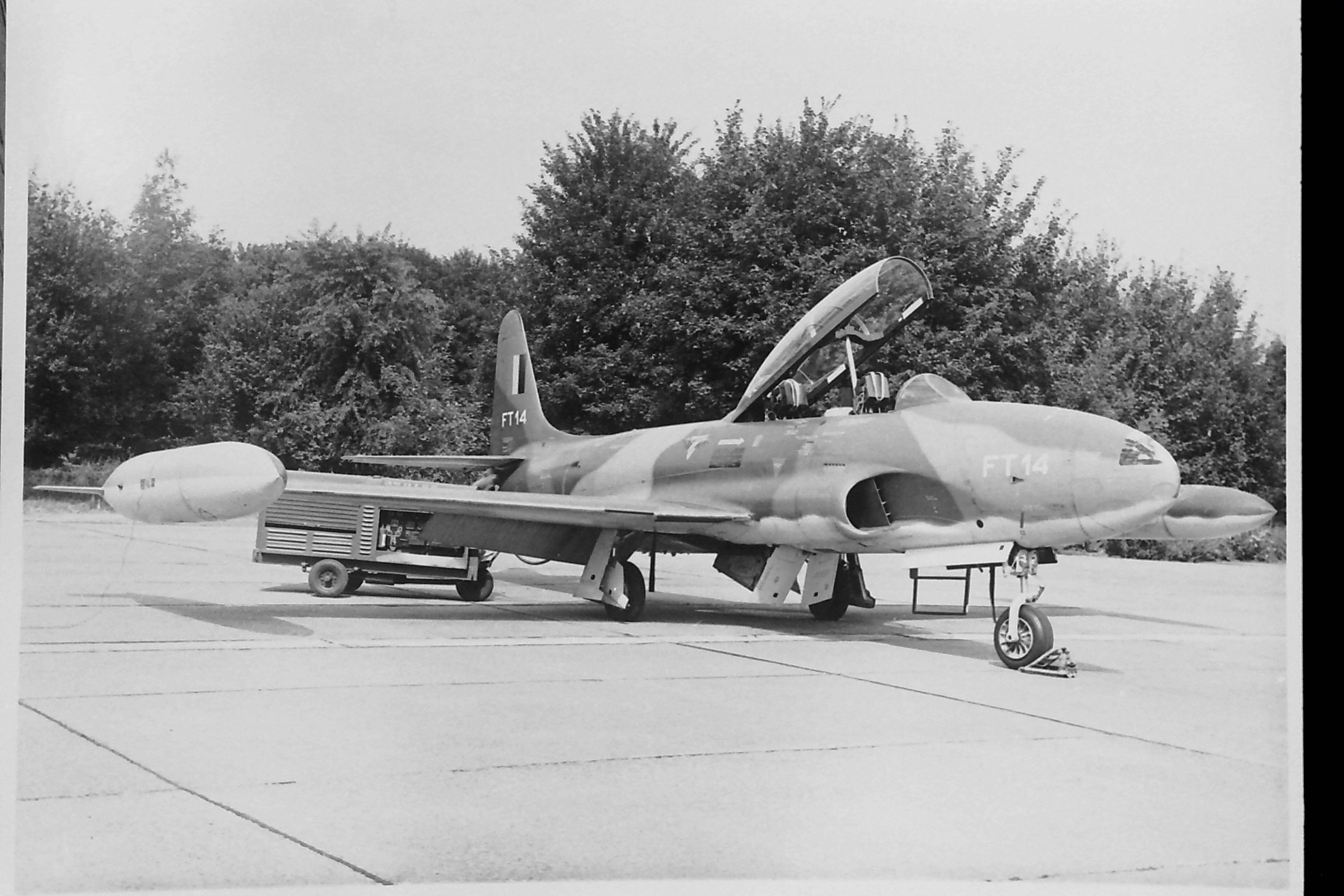 T33 FT14 On Flight Line Right Frontal View