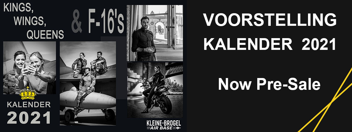 Voorstelling kalender Kings, Wings, Queens & F-16's